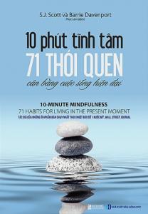 sach 10 phut tinh tam 71 thoi quen can bang cuoc song hien dai 208x300 - 9 cuốn sách hay về áp lực cuộc sống giúp bạn bóc tách những lo âu, phiền não
