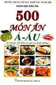 sach 500 mon an a au 198x300 - 7 quyển sách dạy nấu món Âu hay đầy hấp dẫn và tinh tế